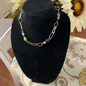 Silpada 925 Sterling Silver Stone Beaded Necklace